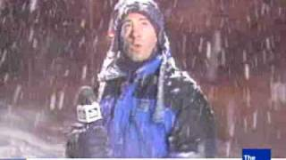 Weather man behold power of thunder snow
